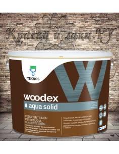 Краска TEKNOS Woodex Aqua Solid полуматовая 9л.