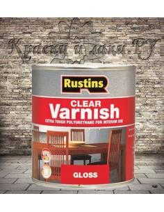 Полиуретановый лак Poly Varnish Rustins Gloss Clear Глянцевый 500мл