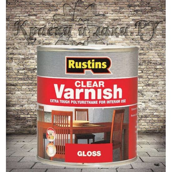 Полиуретановый лак Poly Varnish Rustins Gloss Clear Глянцевый 2.5л