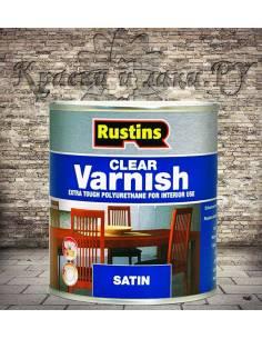 Полиуретановый лак Poly Varnish Rustins Satin Clear Полуматовый 500мл