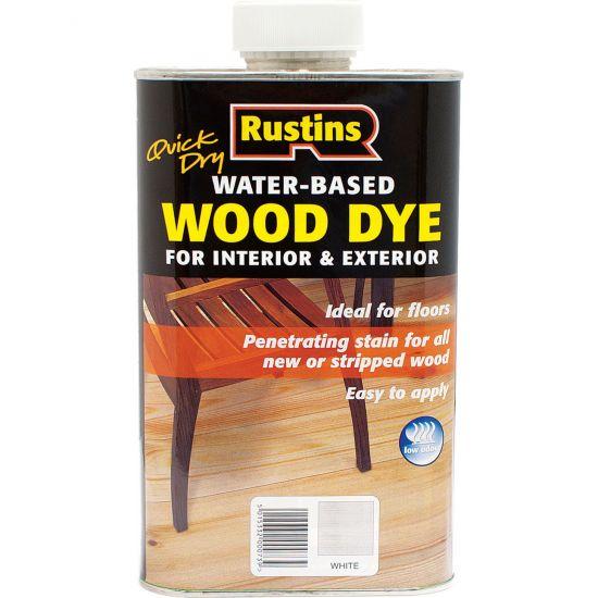 Rustins QD Wood Dye - морилка для дерева White (Белый) 1л