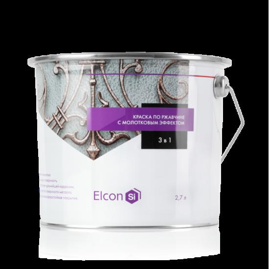 Краска c молотковым эффектом Elcon Smith 3в1, Серебро, 0.8кг