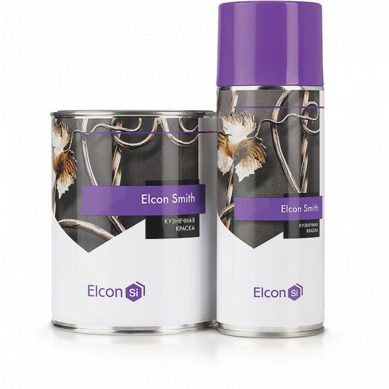 Кузнечная краска Elcon Smith Черный, 250мл (Аэрозоль)