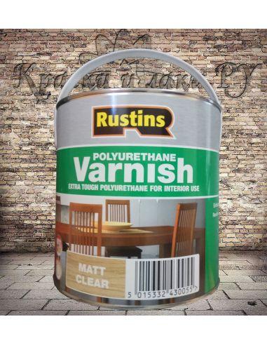 Полиуретановый лак Poly Varnish Rustins Matt Clear Матовый 5л