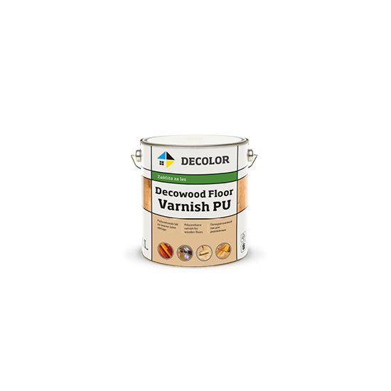 Полиуретановый лак для пола Decolor Decowood Floor Varnish PU, полуматовый, 1л