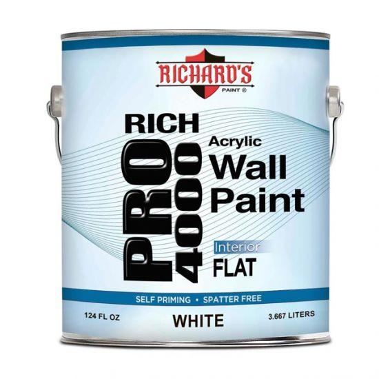 Краска для внутренних работ Richard's Paint Rich Pro 4000 3.8 л